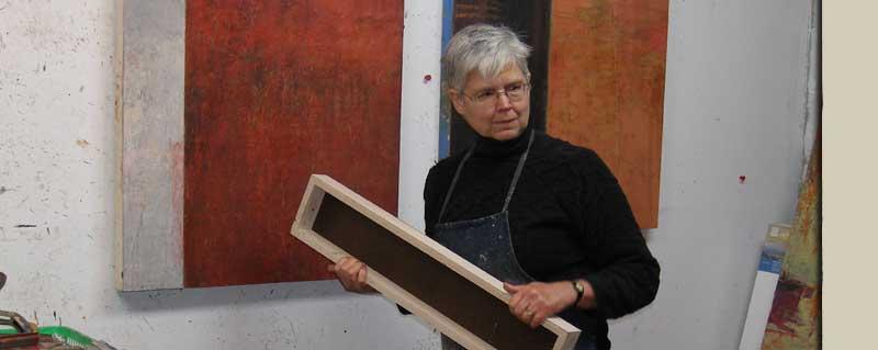 Rebecca Crowell in her studio